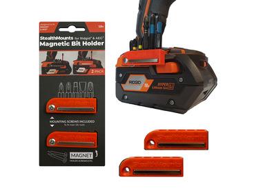 StealthMounts Magnetic Bit Holder for AEG & Ridgid 18v Tools