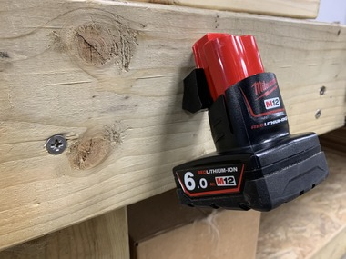 Milwaukee M12 Battery Mounts